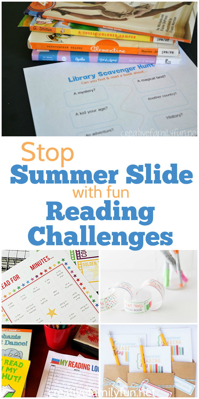 Stop summer slide with fun reading challenges.