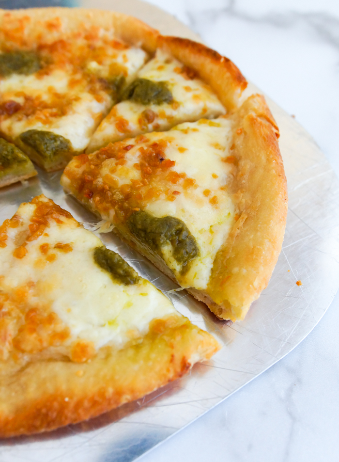 Trader Joe's: Roasted Garlic and Pesto Pizza with Deep-Fried Crust review