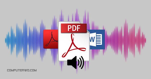 PDF read aloud word reader - قراءة بالصوت