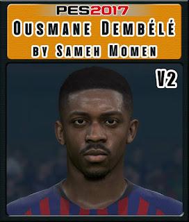 PES 2017 Faces Ousmane Dembélé by Sameh Momen