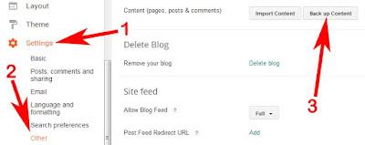 Blogger blog backup kaise le