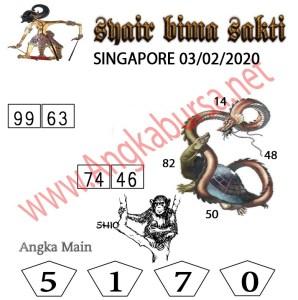 Prediksi Togel JP Singapura 02 Maret 2020 - Syair Bima Sakti