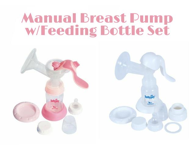 Manual Breast Pump w/Feeding Bottle Set