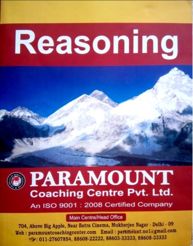 Paramount Reasoning : For All Competitive Exam PDF Book