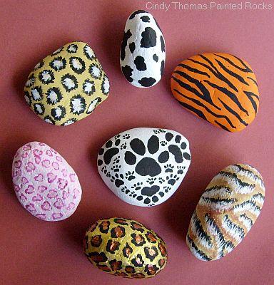 Painting Rock Stone Animals Nativity Sets More Rock Painting Idea Animal Prints