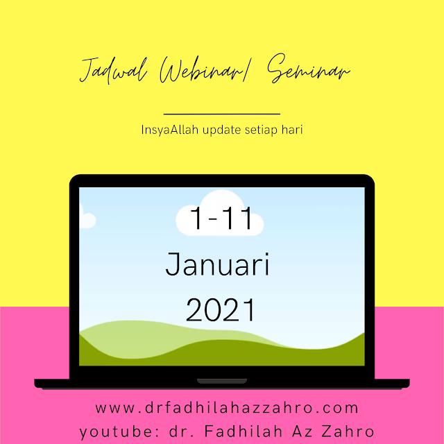Jadwal Webinar/Seminar Dokter 1-10 Februari 2021