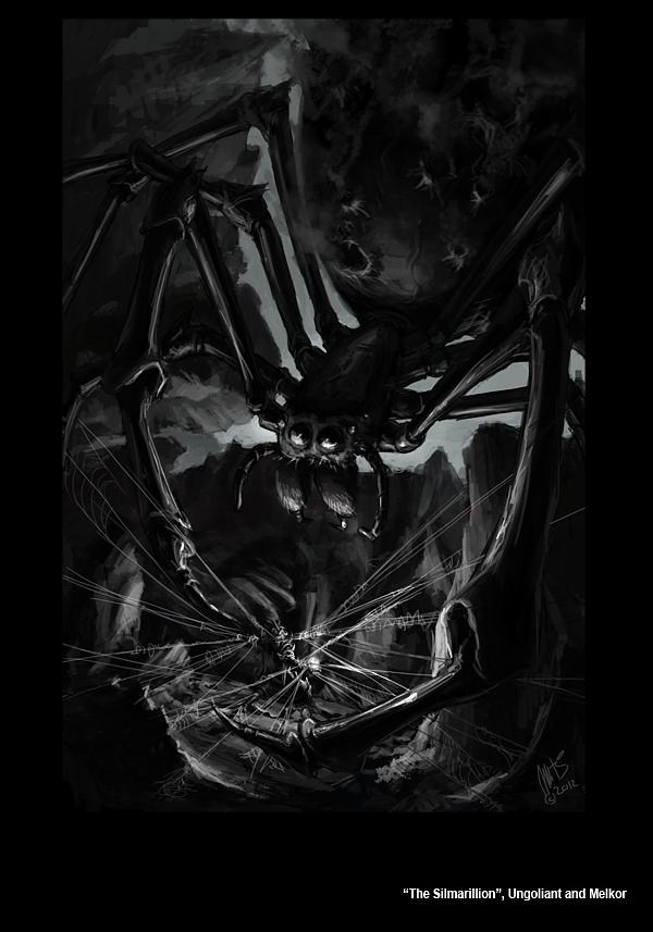 Ungoliant ăn thịt Melkor