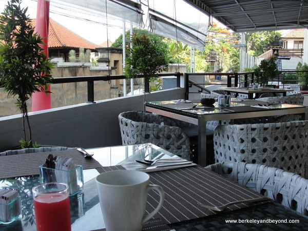 breakfast room view at Swiss-Belresort Watu Jimbar in Sanur, Bali, Indonesia