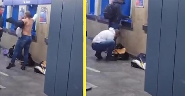 Собаке, которая дрожала от холода, парень с добрым сердцем отдал свою футболку