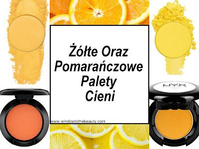 Żółte Oraz Pomarańczowe Palety Cieni