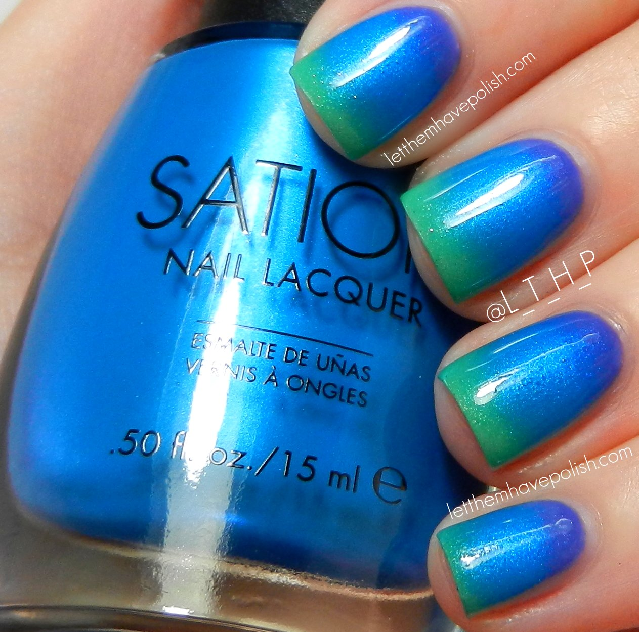 Gradient Nail Art: Let Them Have Polish!: Sation Candylandia Gradient Nail