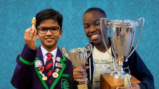 Shrez (à gauche) et Tani (à droite) aspirent tous deux à devenir champions du monde d'échecs