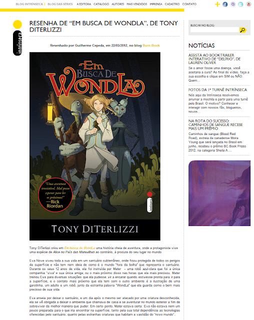 News: Confira minha resenha de Em busca de WondLa no Blog das series. 17