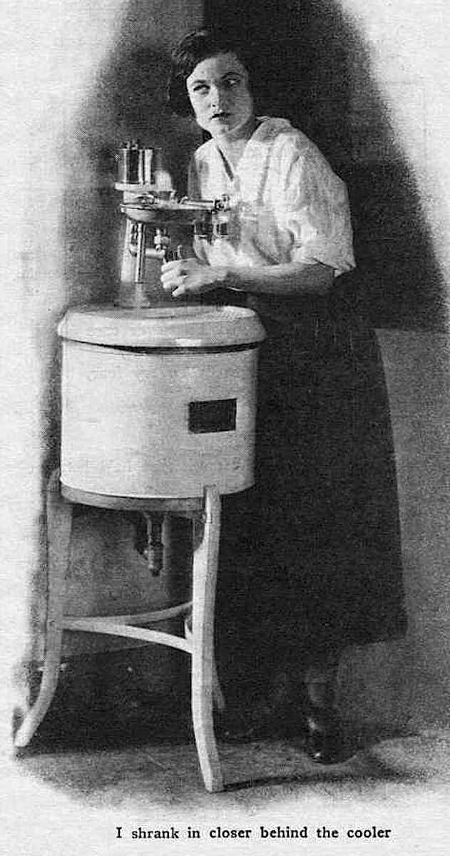 a 1924 eavesdropping photograph, 1924 office watercooler