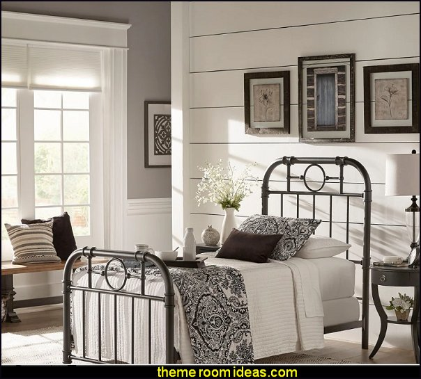 Black Metal Bed modern farmhouse bedroom furniture modern farmhouse industrial decor