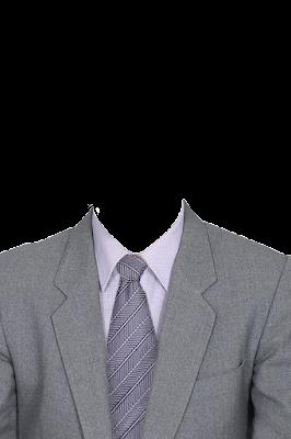 Contoh template gambar baju jas pria warna abu-abu png