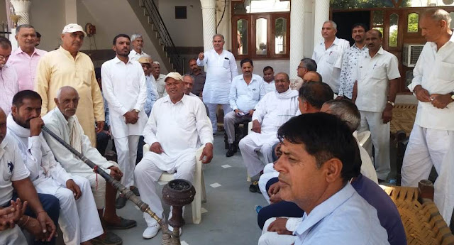 Kisan Sangharsh Samiti meeting in Bhataula, warned the government of delaying compensation