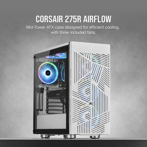 Corsair 275R Airflow Tempered Glass PC Gaming Case
