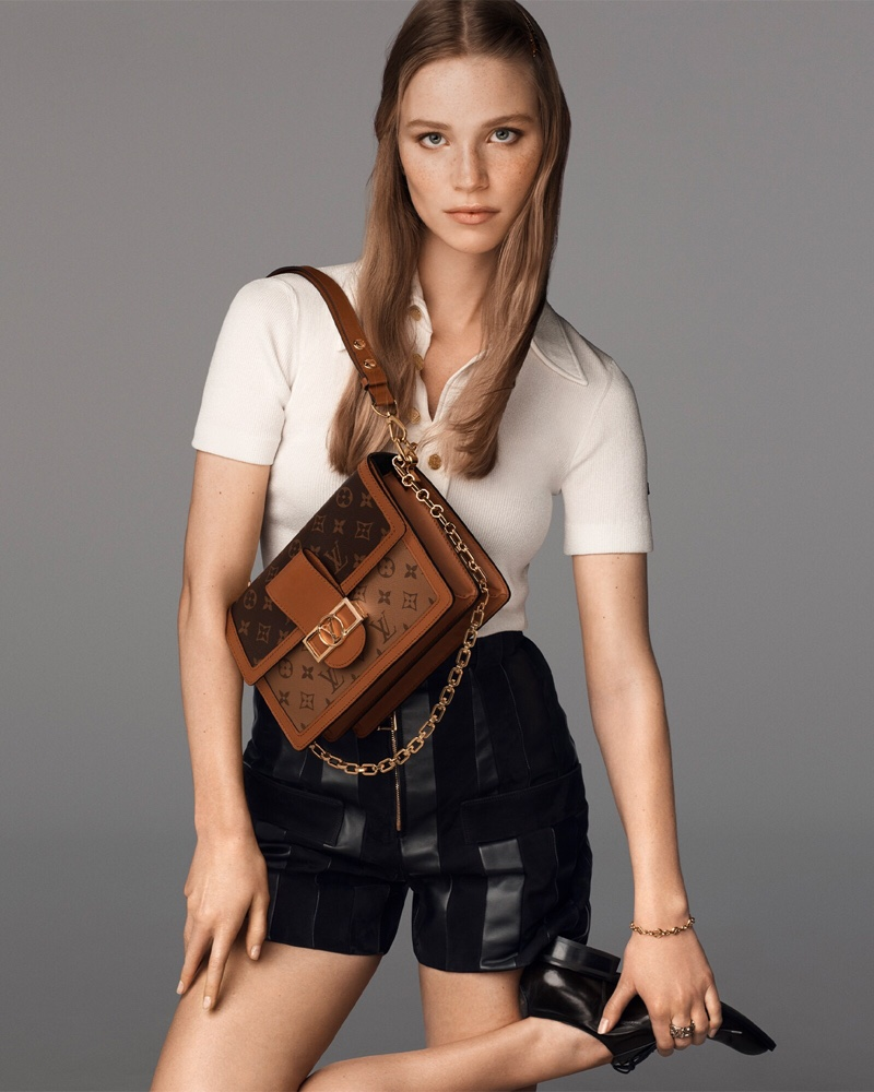 Louis Vuitton Dauphine bag 2021 campaign
