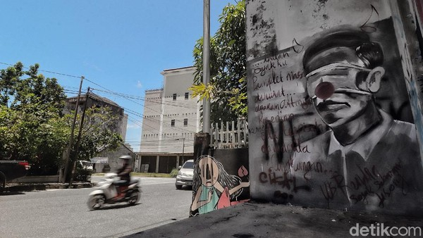 Ada Lagi Mural Mirip Jokowi di Pangkalpinang