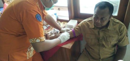 Ratusan Kades Di Ngawi Tes Kesehatan Guna Cegah Virus Corona
