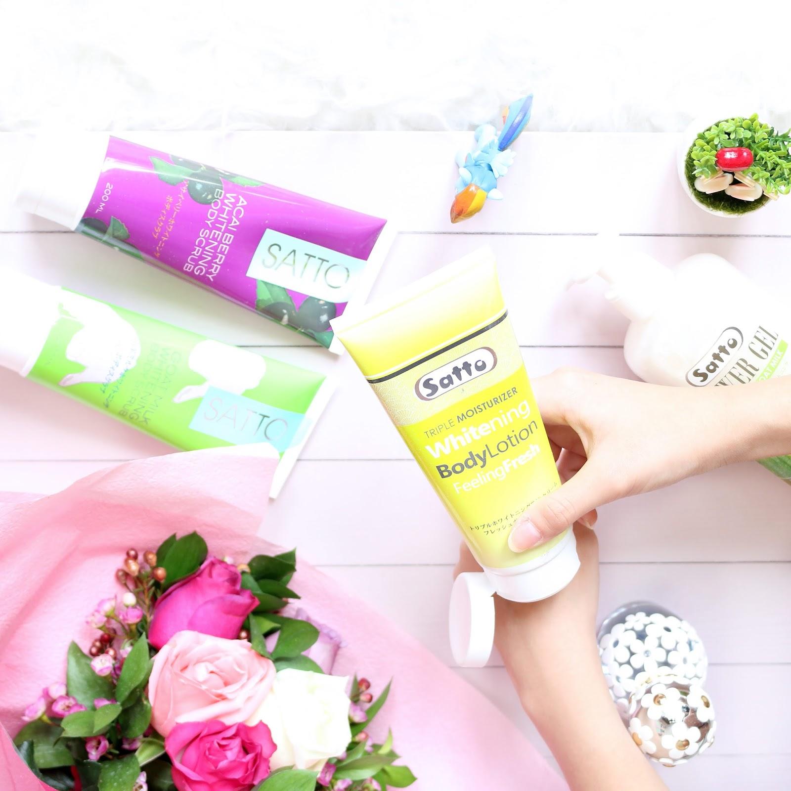 satto, satto body care, satto indonesia, whitening product, pemutih kulit alami, kulit putih, body care, satto
