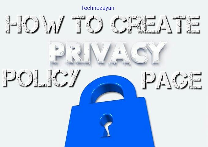 How to create privacy policy page in hindi | प्राइवेसी पालिसी पेज कैसे बनाये हिंदी में जाने