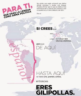 lengua, arma política, gilipollas,castellano, catalán, catalá