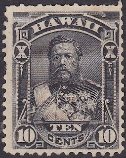 Hawaii - 1893 - 10 Cents Black King David Kalakaua