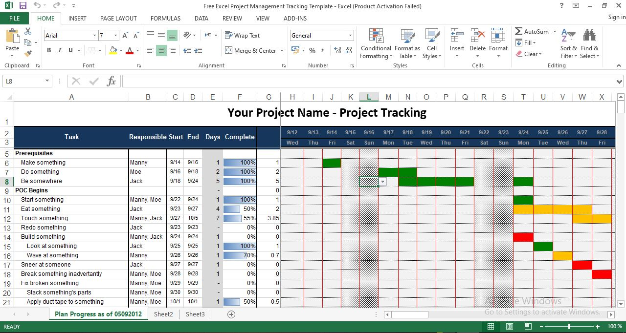 Define priority of each issue, assign to key people on the team and check off when complete. Free Excel Project Management Tracking Template