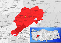 Dinar ilçesinin nerede olduğunu gösteren harita