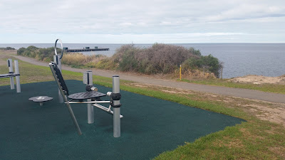 Edithburgh foreshore public gym with an amazing view.