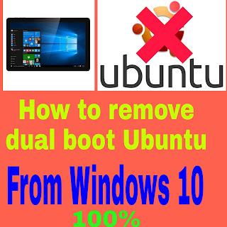 Uninstall ubuntu dual boot winodows