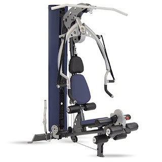 Inspire Fitness M2 Home Gym Multi-Gym, with blue seat pads & mesh stack shroud, image, review features & specifications plus compare with M3