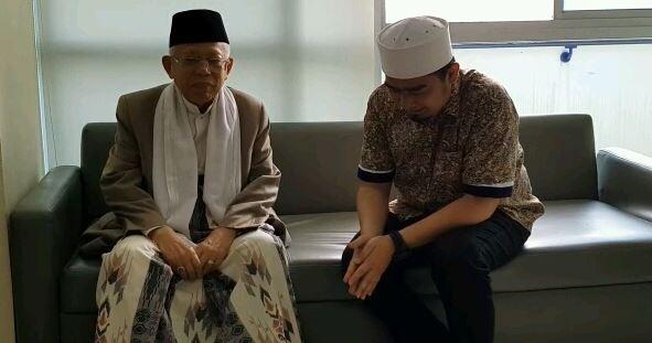 Datang Menjenguk, KH Ma'ruf Amin: Umat Islam Membutuhkan Ustad Arifin Ilham