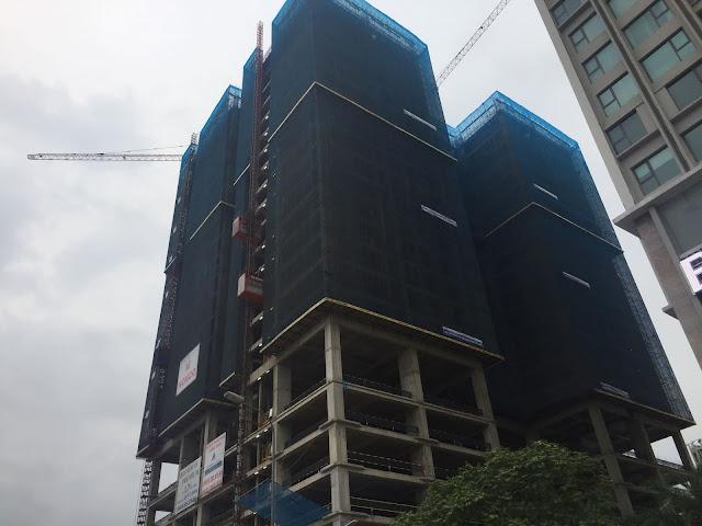 Tiến độ thi công chung cư Housinco Premium hiện đã qua tầng 20