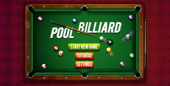 8 Ball Pool Billiards - HTML5 Sports Game  (Construct 3 | Construct 2 | Capx)