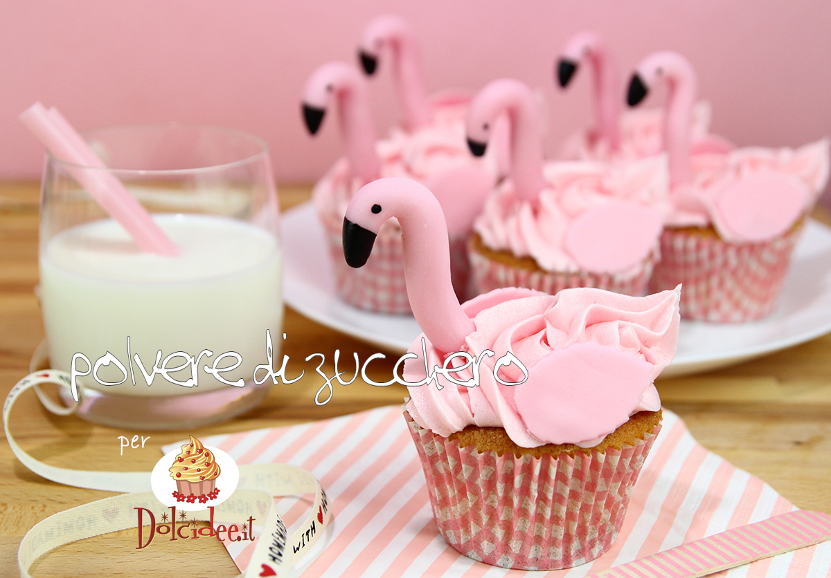 cupcake flamingo fenicottero cupcakes cake design tutorial passo a passo cameo paneangeli polvere di zucchero
