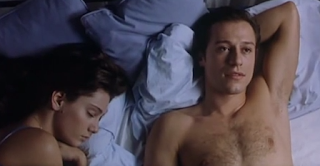 Giovanna Mezzogiorno and Stefano Accorsi in a scene from Muccino's breakthrough movie, L'ultimo bacio
