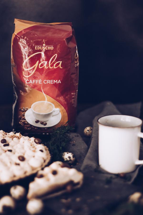 Rezept Tarte mit Eduscho Gala Caffè Crema und Schokolade zu Ostern, Geburtstag oder als Sonntagskuchen. titatoni.de