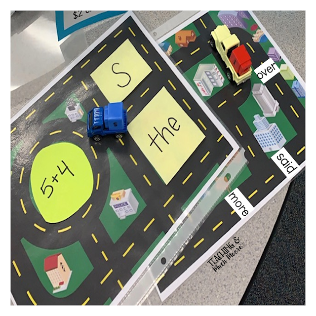 sight word race cars