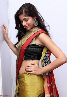 Naziya Khan Spicy Model in Saree