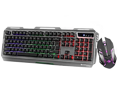 ZEBRONICS Gaming Multimedia USB Keyboard and Mouse Combo Transformer