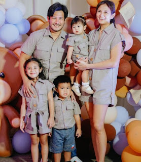 Isabel Oli with her hubby John Prats and their 3 kids