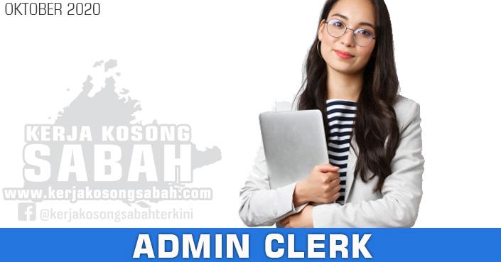 Kerja Kosong Sabah 2020 | Admin Clerk