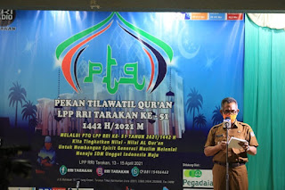 Wali Kota Membuka Secara Resmi Pekan Tilawatil Qur'an LPP RRI Tarakan