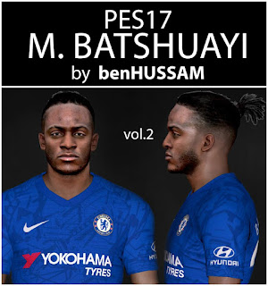 PES 2017 Faces Michy Batshuayi by BenHussam