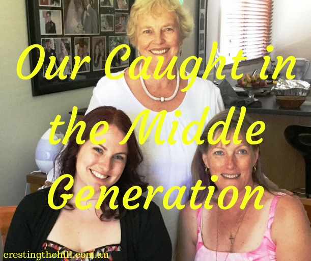 How did Midlifers get to be the caught in the middle generation?