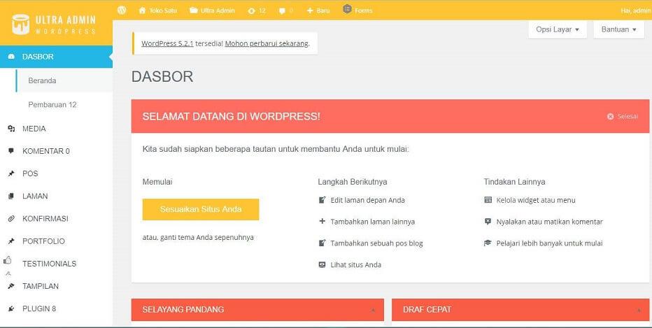 Mengubah Tampilan Dashboard Wordpress Jadi Lebih Keren