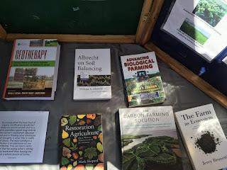 Educational books on table